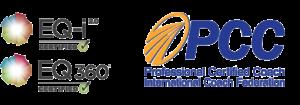 EQ-i certification logos and PCC logo